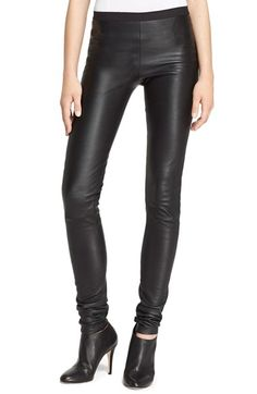 Rick Owens Stretch Leather Leggings available at #Nordstrom
