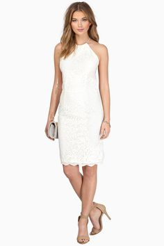 Find this and many more must have little white dresses at www.tobi.com | #SHOPTobi | #LittleWhiteDress | Don't forget 50% off your first order!
