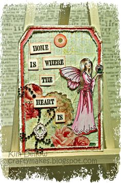 Kim Dellow: Sharing The Making Of A Shabby Chic Tag