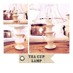 ..Twigg studios: diy tea cup lamp tutorial    link has all the instructions on how to make the lamp.