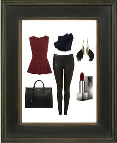 """Peplum Outfit"" by nicolefl on Polyvore"