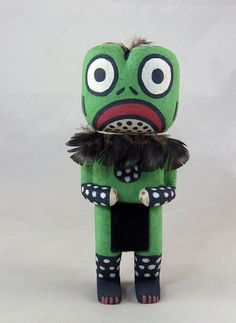 Paqua, the Frog Kachina is carved by hopi artist Fred Ross of First Mesa.