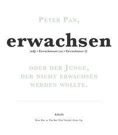 Learning German: Typography German word of the day.