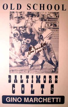 Baltimore Colts-Old School (Gino Marchetti) The founder of Gino's