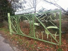 Recycling Centre gate.