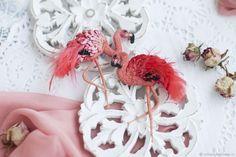 Брошь яркий Фламинго – купить в интернет-магазине на Ярмарке Мастеров с доставкой