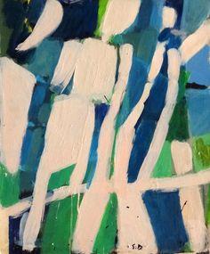 Acrylique sur papier contre collé sur panneau. Dimension: 55x46 cm www.fondationsolangebertrand.org