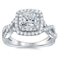 Gorgeous infinity halo cushion cut engagement ring