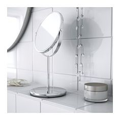 IKEA - TRENSUM, Mirror,  , , One side with magnifying mirror.Suitable for use in high humidity areas since it is water-resistant.