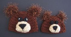 Bear Hat Patterns:  Free Crochet hat patterns.  I think, with a little tweaking, these can be really cute.