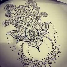 Resultado de imagem para hamsa with lotus