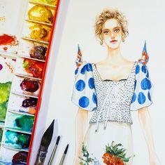 """좋아요 200개, 댓글 4개 - Instagram의 SONIA 邵邵(@sonia_shao)님: """"@dolcegabbana #fashionillustrations #watercolor#fashionartistsgallery #artwork #illustrator…"""""""