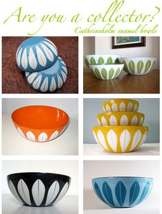 Cathrineholm Bowls....I might become a collector after all