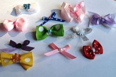 lot of 6 itty bitty bows by mylittlebows on Etsy, $5.00