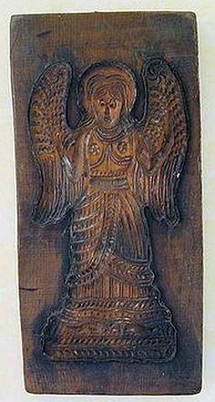 Wooden Angel .... Springerle cookie mold.