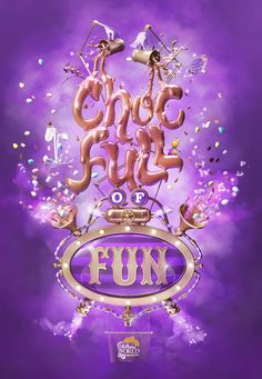 An illustration created at Big Communications for Cadbury to promote their fun packed visitor attraction Cadbury World in Birmingham for Creative Advertising, Advertising Design, Typography Letters, Lettering, Cadbury World, Creative Posters, Social Media Design, Ad Design, Print Ads