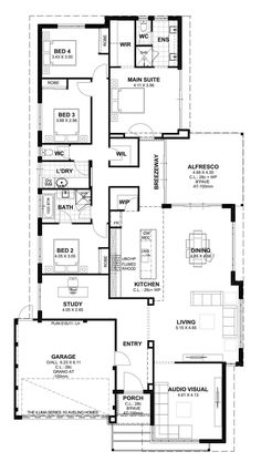 Home Builders House Plans 2021 Super modern facade and minimal entrance was initially point that gets your interest while you're approaching home builders house plans. Before you en. European House Plans, Small House Plans, House Floor Plans, House Plans Australia, Custom Home Plans, Custom Homes, 4 Bedroom House Plans, Model House Plan, Floor Plan Layout