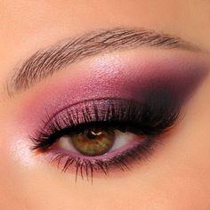 Brown Eyes Makeup, Pink Eye Makeup Looks, Cute Eye Makeup, Pink Eyeshadow Look, Smoky Eyeshadow, Creative Eye Makeup, Colorful Eye Makeup, Pink Makeup, Smokey Eye Makeup