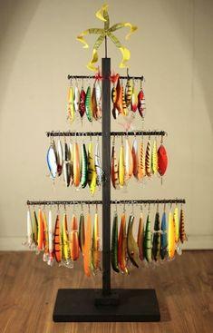 Fishing lure Christmas tree. #FishingLures