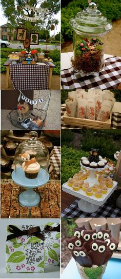 A Woodland Theme - Birthday Party Ideas: