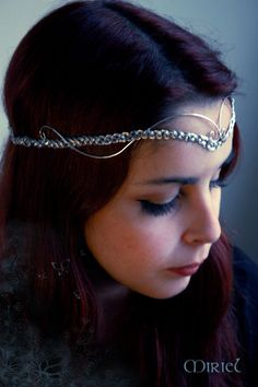 Bixby's style for sure! silver circlet.