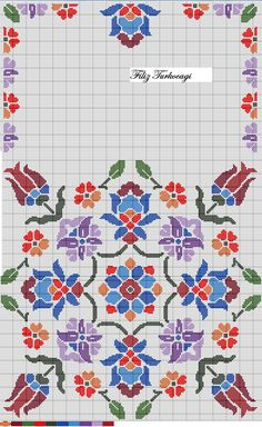 The pattern is here . Cross Stitch Pillow, Cross Stitch Borders, Cross Stitch Flowers, Cross Stitch Designs, Cross Stitching, Cross Stitch Patterns, Hand Embroidery Patterns, Diy Embroidery, Cross Stitch Embroidery