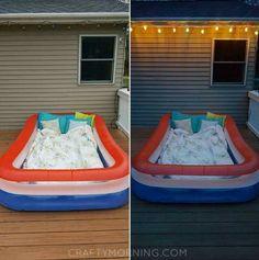 Pool Hacks You Have to Try This Summer – One Crazy House - life hacks Kiddie Pool, My Pool, Pool Fun, Blow Up Pool, Summer Pool, Summer Time, Summer Ideas, Summer Nights, Summer Things