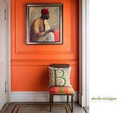 "sheila bridges - Benjamin Moore ""Orange Blossom"" - love it"