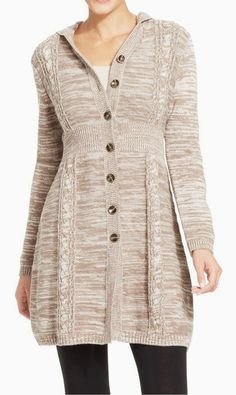 Style&co. Marled-Cable-Knit Hooded Cardigan #sponsored