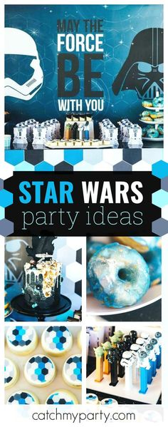 Travel to a Galaxy Far Away with this incredible Star Wars birthday party. Just look at that cake!! See more party ideas and share yours at CatchMyParty.com