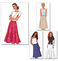 Butterick 3134 A classic skirt pattern.  I like this one, but may have one already similar to it.
