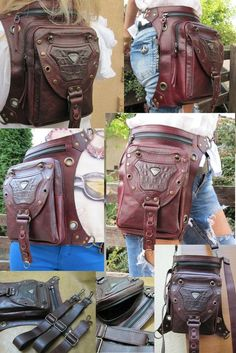 Save those thumbs Tan Leather Handbags, Tan Handbags, Leather Workshop, Hip Bag, Casual Bags, Zombie Apocalypse, Backpack Bags, Purses And Bags, Zombies
