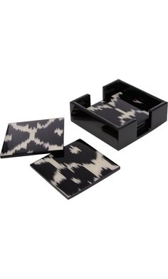 Madeline Weinrib Black Daphne Coasters at Barneys