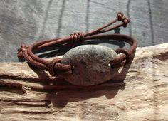 Scottish Sea Pebble Bracelet by byNaturesDesign on Etsy, $15.00
