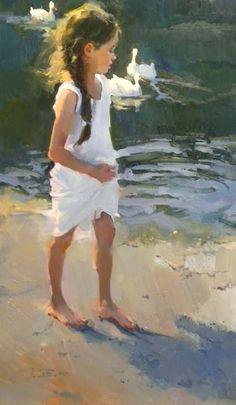 Exploring the shore  - Nancy Seamons Crookston