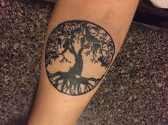 Tree of life forearm tattoo