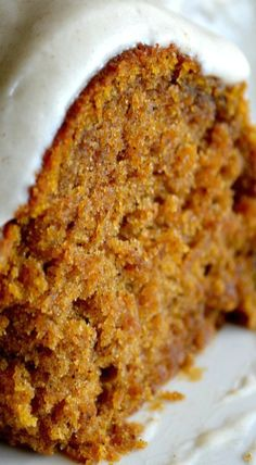 Pumpkin Spice Buttermilk Cake with Cinnamon Cream Cheese Frosting | pumpkin recipes, desserts