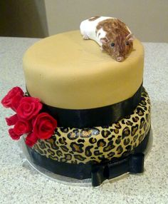 Mouse on hat cake