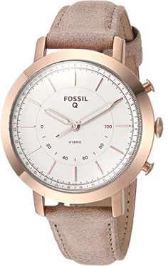 7cf4212c9bab5 Fossil Q Women s Neely Stainless Steel and Leather Hybrid Smartwatch,  Color  Rose Gold-