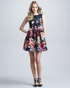 RED Valentino Hazy Garden Silk Faille Fit & Flare Dress, Rose on shopstyle.com -> NYFW wishlist!