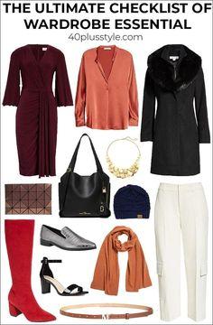 The ultimate checklist of wardrobe essentials | 40plusstyle.com