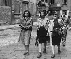 Women of the Italian resistance (Milan, Italy - April 1945)
