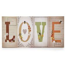 Wilko Love Word Canvas 45x90cm