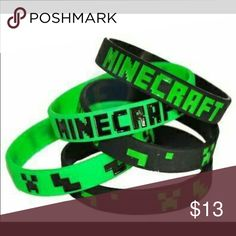 Minecraft Birthday Party Wristbands Bracelets Set of 10 Minecraft bracelets. You can choose to receive both colors or just one. Just one sells for $9 on the Jinx website. Perfect for birthday parties. Accessories Jewelry