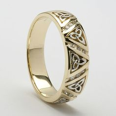 $1385 Aileen Trinity Celtic Wedding Ring