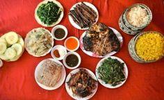 Le repas préparé avec soin par la maitresse de la maison de Thai. Pour le séjour chez l'habitant dans la jolie vallée de Mai Chau