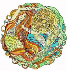 Irish mermaid. Thought it was really pretty.