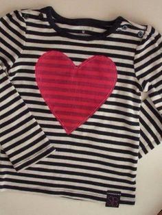 Heart hand stitched shirt