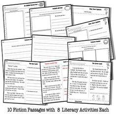 Fun Reading Comprehension, Bear Reading Passages, Bear