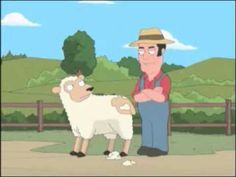 Family Guy- shearing sheep UNCENSORED